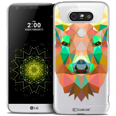 Extra Slim Crystal LG G5 Case Polygon Animals Deer
