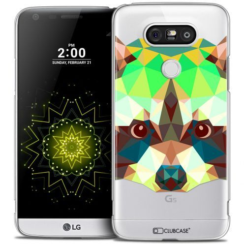 Extra Slim Crystal LG G5 Case Polygon Animals Racoon