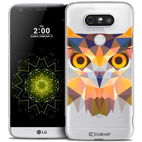 Extra Slim Crystal LG G5 Case Polygon Animals Owl