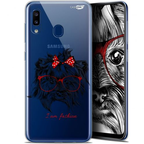 "Extra Slim Gel Samsung Galaxy A20 (6.4"") Case Design Fashion Dog"