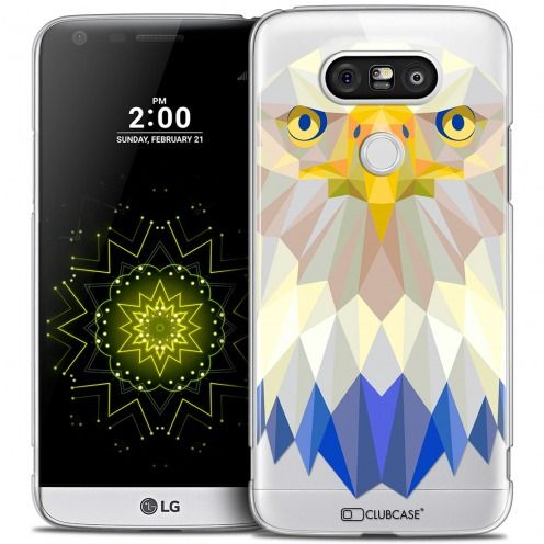Extra Slim Crystal LG G5 Case Polygon Animals Eagle