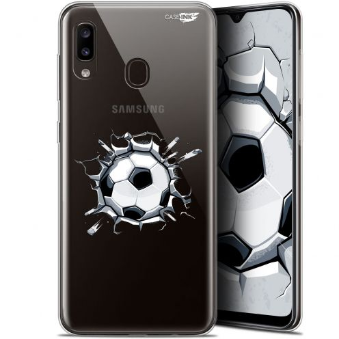 "Extra Slim Gel Samsung Galaxy A20 (6.4"") Case Design Le Balon de Foot"