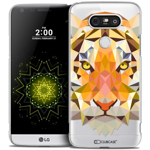 Extra Slim Crystal LG G5 Case Polygon Animals Tiger