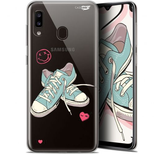 """Extra Slim Gel Samsung Galaxy A20 (6.4"""") Case Design Mes Sneakers d'Amour"""