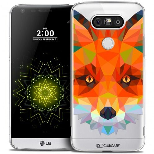 Extra Slim Crystal LG G5 Case Polygon Animals Fox