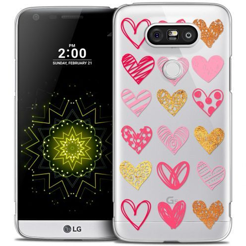 Extra Slim Crystal LG G5 Case Sweetie Doodling Hearts
