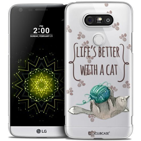 Extra Slim Crystal LG G5 Case Quote Life's Better With a Cat
