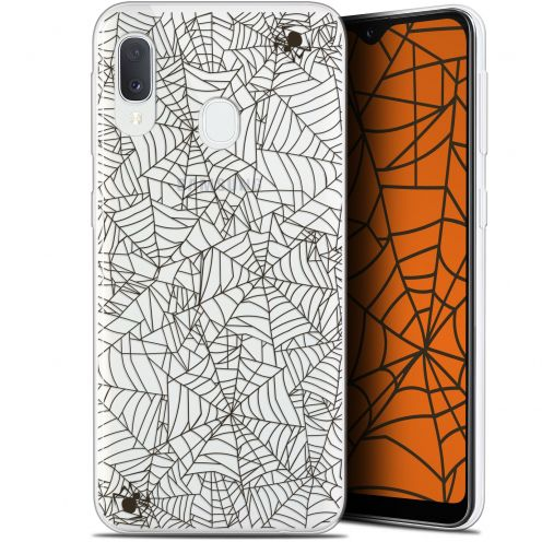 "Extra Slim Gel Samsung Galaxy A20E (5.8"") Case Halloween Spooky Spider"
