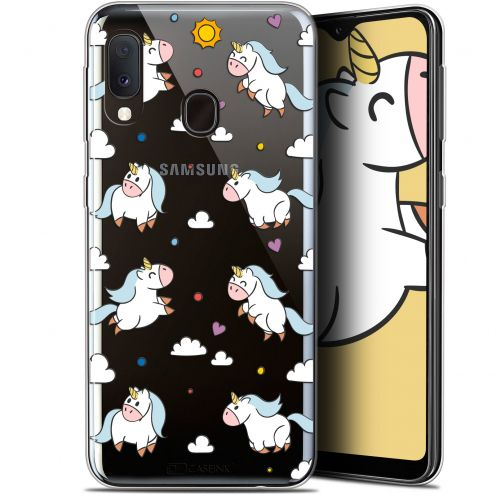 "Extra Slim Gel Samsung Galaxy A20E (5.8"") Case Fantasia Licorne In the Sky"