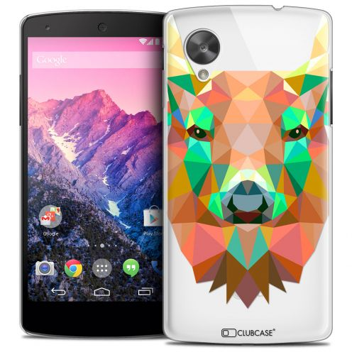 Extra Slim Crystal Nexus 5 Case Polygon Animals Deer