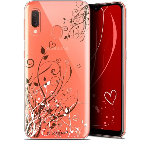 "Extra Slim Gel Samsung Galaxy A20E (5.8"") Case Love Hearts Flowers"
