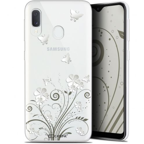 "Extra Slim Gel Samsung Galaxy A20E (5.8"") Case Summer Papillons"