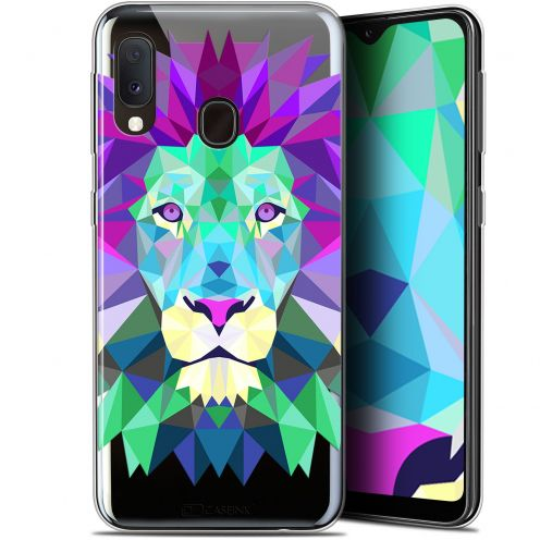 "Extra Slim Gel Samsung Galaxy A20E (5.8"") Case Polygon Animals Lion"