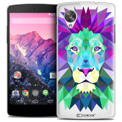 Extra Slim Crystal Nexus 5 Case Polygon Animals Lion