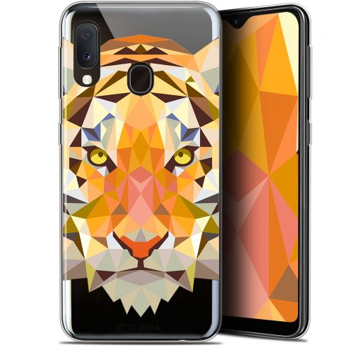 "Extra Slim Gel Samsung Galaxy A20E (5.8"") Case Polygon Animals Tiger"