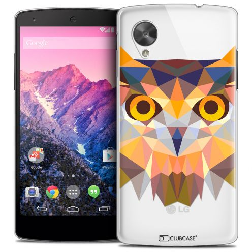 Extra Slim Crystal Nexus 5 Case Polygon Animals Owl