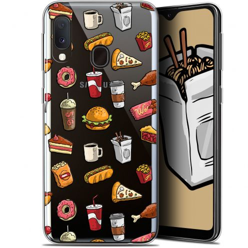 "Extra Slim Gel Samsung Galaxy A20E (5.8"") Case Foodie Fast Food"
