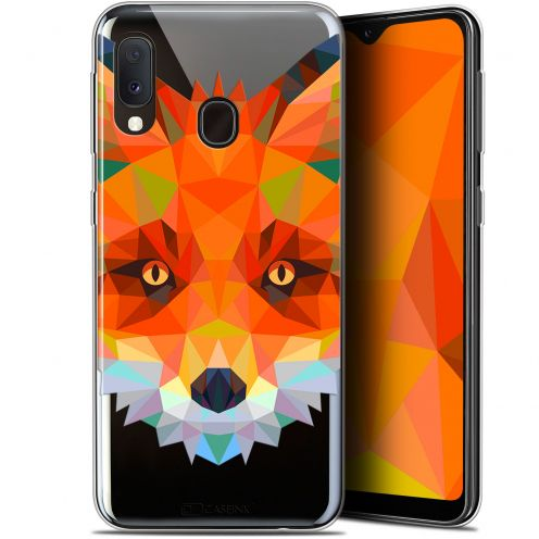 "Extra Slim Gel Samsung Galaxy A20E (5.8"") Case Polygon Animals Fox"