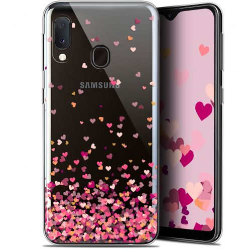 "Extra Slim Gel Samsung Galaxy A20E (5.8"") Case Sweetie Heart Flakes"