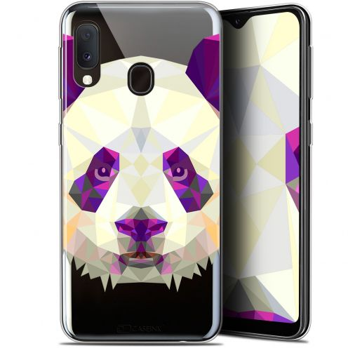 "Extra Slim Gel Samsung Galaxy A20E (5.8"") Case Polygon Animals Panda"