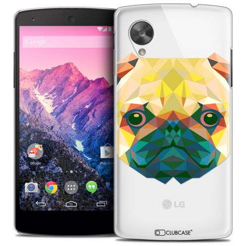 Extra Slim Crystal Nexus 5 Case Polygon Animals Dog