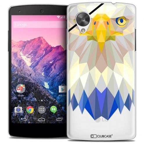 Extra Slim Crystal Nexus 5 Case Polygon Animals Eagle