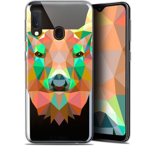 "Extra Slim Gel Samsung Galaxy A20E (5.8"") Case Polygon Animals Deer"
