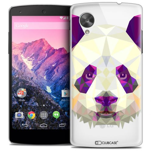Extra Slim Crystal Nexus 5 Case Polygon Animals Panda