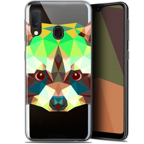 "Extra Slim Gel Samsung Galaxy A20E (5.8"") Case Polygon Animals Raton Laveur"