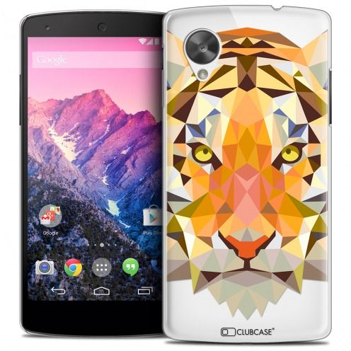Extra Slim Crystal Nexus 5 Case Polygon Animals Tiger