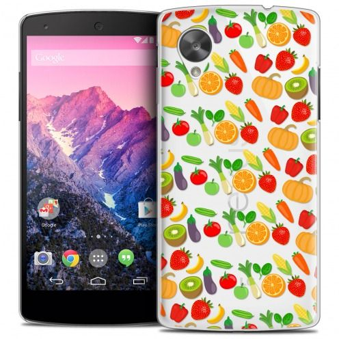 Extra Slim Crystal Nexus 5 Case Foodie Healthy
