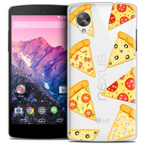 Extra Slim Crystal Nexus 5 Case Foodie Pizza