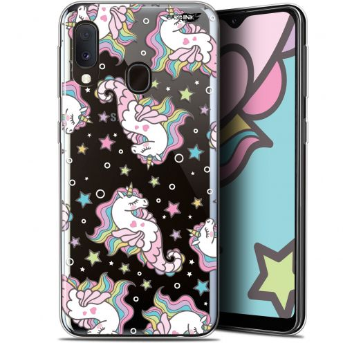 "Extra Slim Gel Samsung Galaxy A20E (5.8"") Case Design Licorne Dormante"