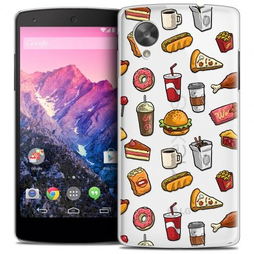 Extra Slim Crystal Nexus 5 Case Foodie Fast Food