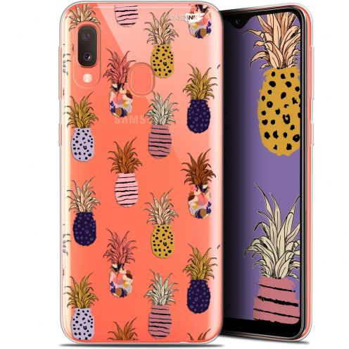 "Extra Slim Gel Samsung Galaxy A20E (5.8"") Case Design Ananas Gold"