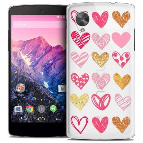 Extra Slim Crystal Nexus 5 Case Sweetie Doodling Hearts