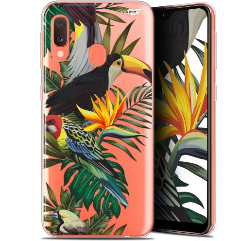 "Extra Slim Gel Samsung Galaxy A20E (5.8"") Case Design Toucan Tropical"