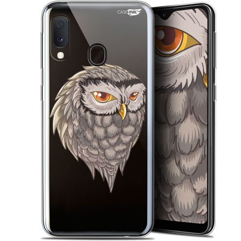 "Extra Slim Gel Samsung Galaxy A20E (5.8"") Case Design Hibou Draw"