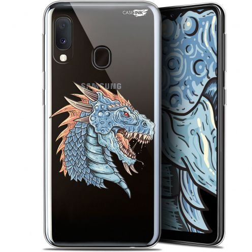 "Extra Slim Gel Samsung Galaxy A20E (5.8"") Case Design Dragon Draw"