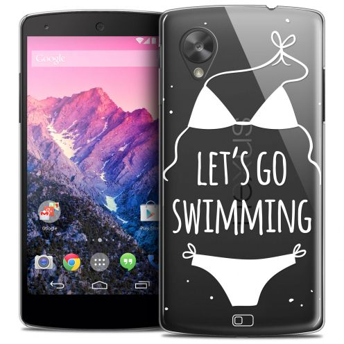 Extra Slim Crystal Nexus 5 Case Summer Let's Go Swim
