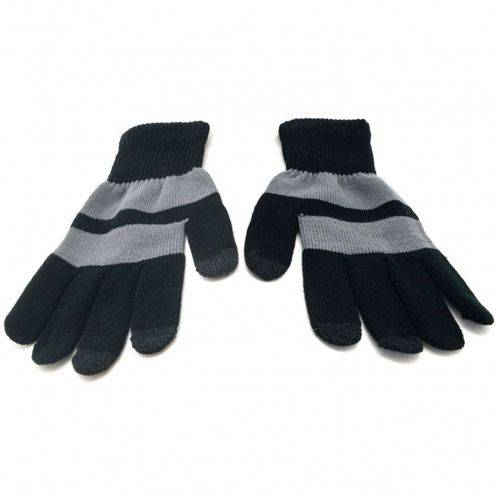 iTouch - touch gloves special iPhone black & grey - size M/L