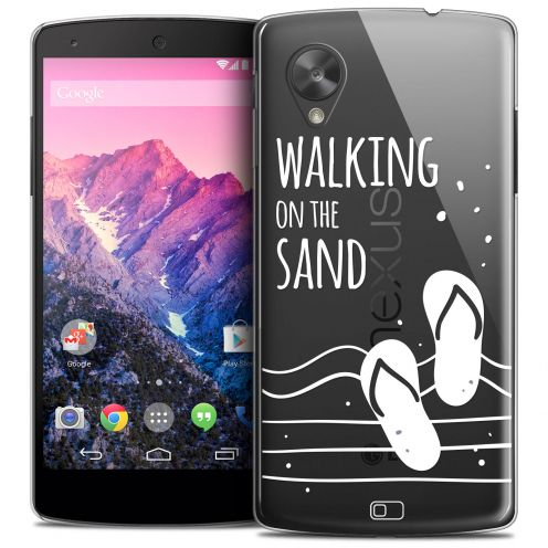 Extra Slim Crystal Nexus 5 Case Summer Walking on the Sand