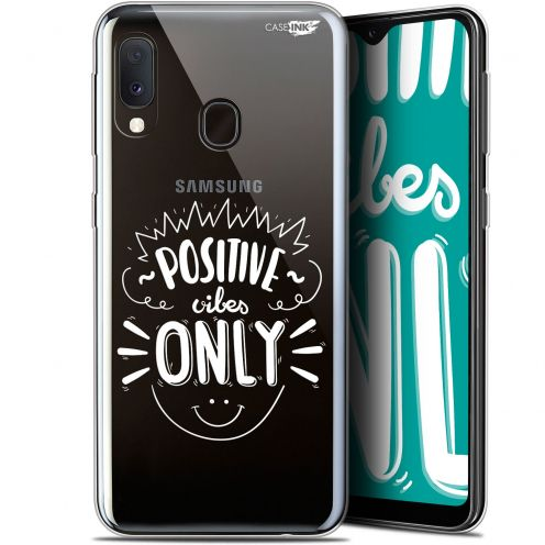 "Extra Slim Gel Samsung Galaxy A20E (5.8"") Case Design Positive Vibes Only"