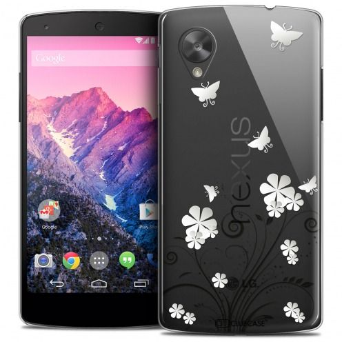 Extra Slim Crystal Nexus 5 Case Summer Papillons