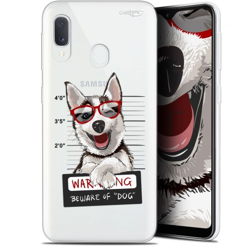"Extra Slim Gel Samsung Galaxy A20E (5.8"") Case Design Beware The Husky Dog"