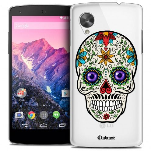 Extra Slim Crystal Nexus 5 Case Skull Maria's Flower