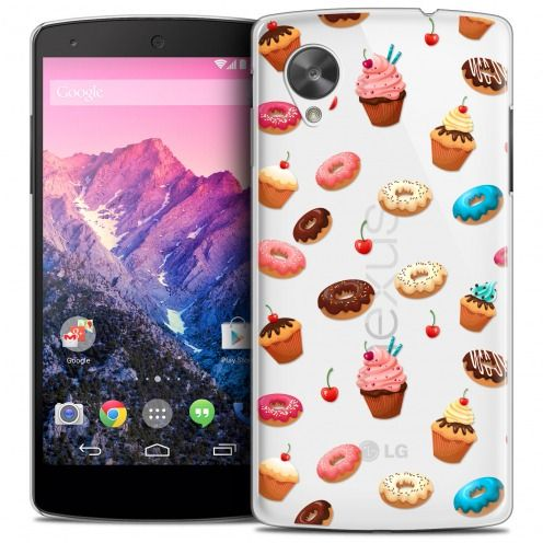 Extra Slim Crystal Nexus 5 Case Foodie Donuts