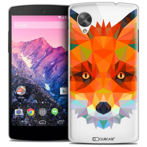 Extra Slim Crystal Nexus 5 Case Polygon Animals Fox