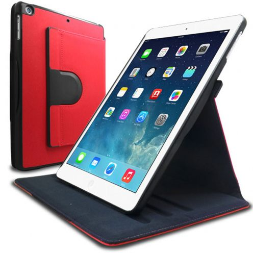 Club 360 ° rotating case for iPad Air Rouge