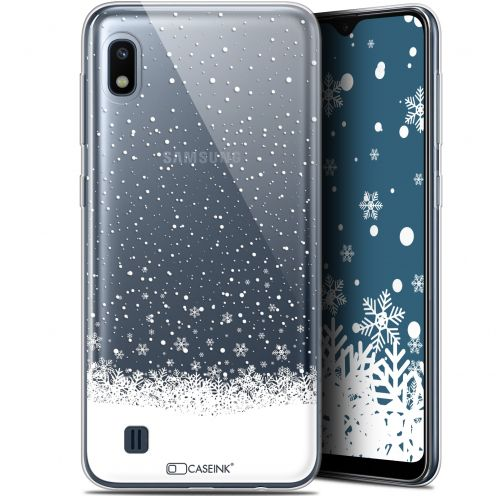 "Extra Slim Gel Samsung Galaxy A10 (6.2"") Case Noël 2017 Flocons de Neige"